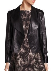 Lafayette 148 New York Leah Draped Leather Jacket