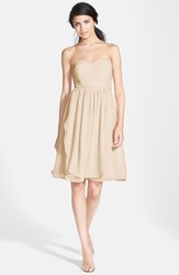 Women's Jenny Yoo 'Keira' Convertible Strapless Chiffon Dress Champagne