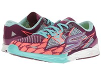 Skechers Go Meb Speed 4 Purple Aqua Women's Running Shoes Green