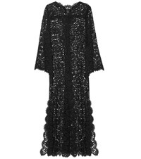 Dolce And Gabbana Lace Maxi Dress Black