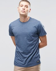 Element One Pocket T Shirt Midnight Blue Heather Blue