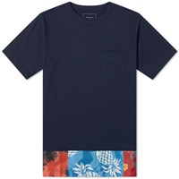 Sophnet. Fake Layered Pocket Tee Blue