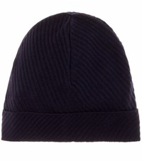 Balenciaga Virgin Wool Blend Beanie Blue