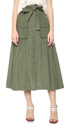 Marissa Webb Ilsa Skirt Military Green