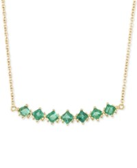 Rare Featuring Gemfields Certified Emerald Linear Bar Statement Necklace 1 Ct. T.W. In 14K Gold Only At Macy's Yellow Gold