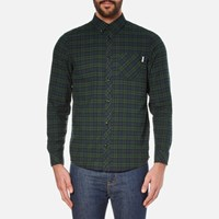 Carhartt Men's Long Sleeve Shawn Shirt Shawn Check Conifer Rinsed Green