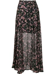 Iro Diamond Printed Maxi Skirt Black