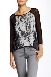 Fate Mesh Blouse Black