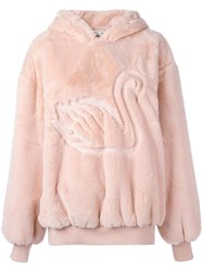 Stella Mccartney Oversize Swan Detail Hoodie Yellow Orange