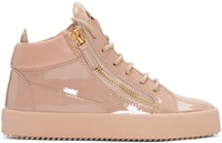 Giuseppe Zanotti Pink Patent London High Top Sneakers