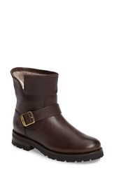 Frye Women's Natalie Genuine Shearling Water Resistant Engineer Boot