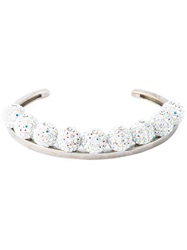 Ca And Lou Pave Ball Bracelet Metallic
