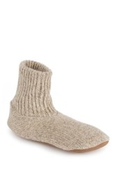 Muk Luks Ragg Wool Blend Slipper Beige