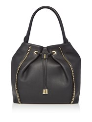Biba Arena Chain Trim Hobo Bag Black