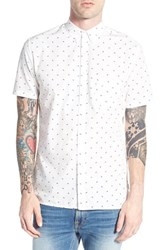 Men's Barney Cools 'Frenzy' Trim Fit Short Sleeve Print Woven Shirt