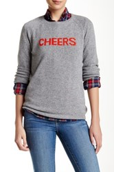 Trovata Cashmere Crew Neck Sweater Gray