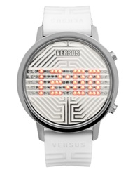 Versus By Versace Watch Unisex Digital Hollywood White Rubber Strap 41Mm 3C7080 0000