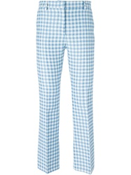 Au Jour Le Jour Gingham Check Trousers Blue
