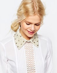 Asos Occasionwear Pretty Pearl Collar Cream