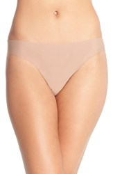 Women's Halogen Seamless Mesh Thong Beige Brush