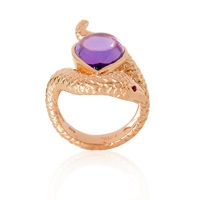 Alexandra Alberta Arizona Amethyst Ring Rose Gold Pink Purple