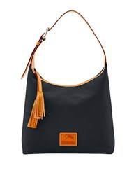 Dooney And Bourke Patterson Leather Paige Hobo Black