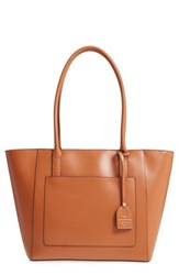 Lodis Medium Margaret Leather Tote With Zip Pouch Brown Toffee