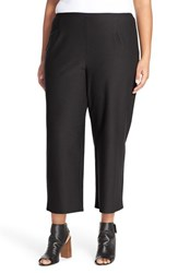 Plus Size Women's Eileen Fisher Crop Straight Leg Stretch Crepe Knit Pants