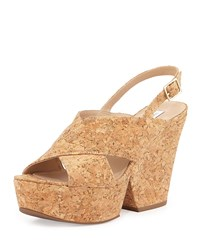 Liberty Cork Split Wedge Sandal Natural Cork Diane Von Furstenberg