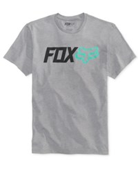 Fox Men's Graphic Print T Shirt Heather Graphite