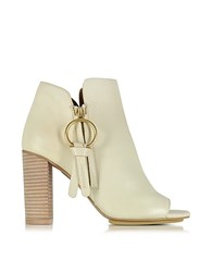 See By Chloe Vanilla Leather Ankle Bootie W Zip