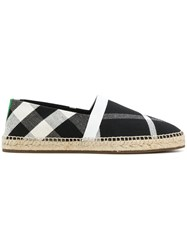 Burberry Check Espadrilles Black