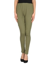 Les Prairies De Paris Casual Pants Military Green