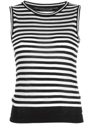 Ermanno Scervino Striped Tank Top Black