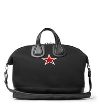 Givenchy Nightingale Leather Trimmed Neoprene Holdall Black