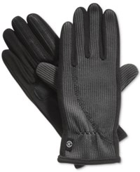 Isotoner Signature St Sport Knit Glove With Overlock Stitch Charcoal