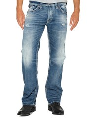Silver Jeans Zac Relaxed Fit Straight Leg Blue