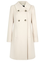 Precis Petite Double Breasted Wool Blend Coat Cream