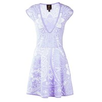 Ekaterina Kukhareva Deep V Dress White Pink Purple