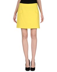 Moschino Cheap And Chic Moschino Cheapandchic Skirts Mini Skirts Women Yellow