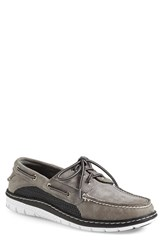 Sperry Men's 'Billfish Ultralite' Boat Shoe Grey Black Leather