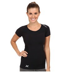 2Xu Compression S S Top Black Black Women's Short Sleeve Pullover