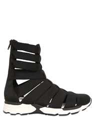 Jeffrey Campbell 20Mm Nylon High Top Cage Sneakers Black