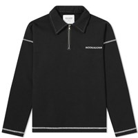 Noon Goons Street Talk 1 4 Zip Sweat Black
