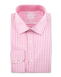 English Laundry Check Long Sleeve Dress Shirt Pink