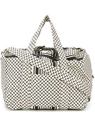 Lala Berlin Tire Track Print Luggage Bag Nude And Neutrals