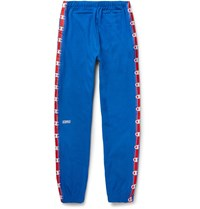 Vetements Champion Slim Fit Loopback Cotton Blend Jersey Sweatpants Blue