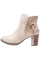Mustang Ankle Boots Ivory Beige