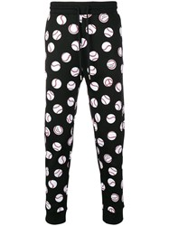 Love Moschino Baseball Ball Print Track Pants Black