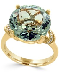 Effy Green Amethyst 8 1 3 Ct. T.W. And Diamond Accent Statement Ring In 14K Gold Yellow Gold